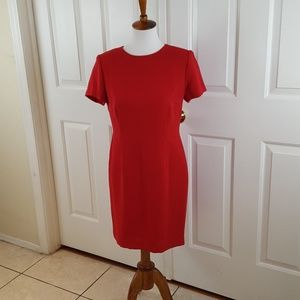 Studio 1 Size 8 Career Dress Red Short Sleeve